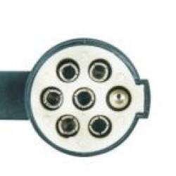Букса токова 24V, 7pin, пластмасова, с винтчета, мъжка маса, за кабел, тип S, ISO 3731